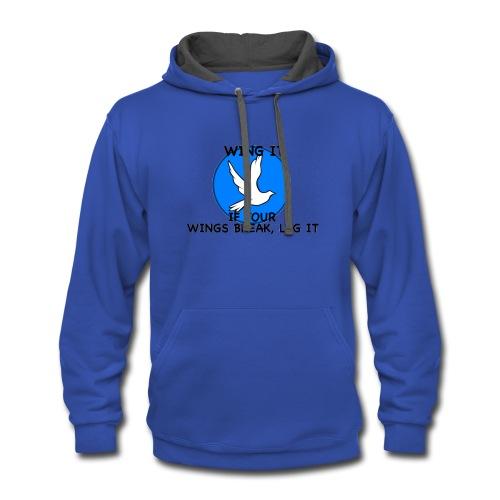 Wing it - Contrast Hoodie