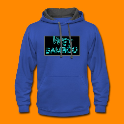 WET BAMBOO GLOWIEEE SHIRT - Contrast Hoodie
