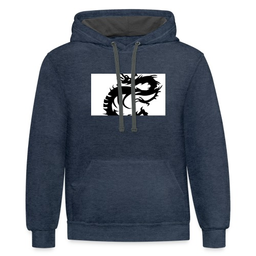Tired Dragon - Contrast Hoodie
