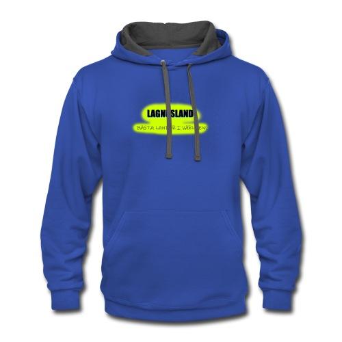 LAGNUSLAND BÄSTA LANDET I VÄRLDEN Logo Yellow - Contrast Hoodie