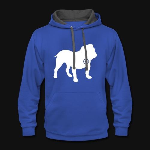 Bulldog love - Contrast Hoodie