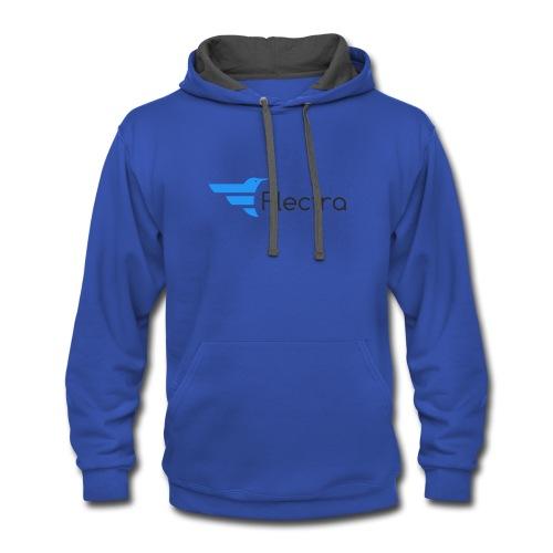Flectra Official Logo Merchandise - Contrast Hoodie