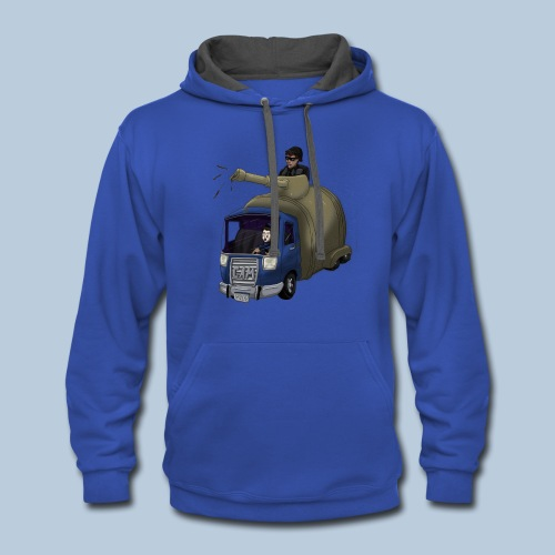 Out of Poopy - Septic Truck - Contrast Hoodie