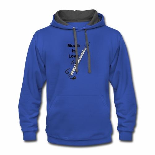 Man T-Shirt - Contrast Hoodie