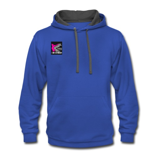 gymnast merchandise - Contrast Hoodie