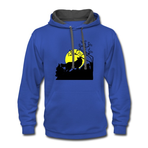 T-shirt Wolf - Contrast Hoodie