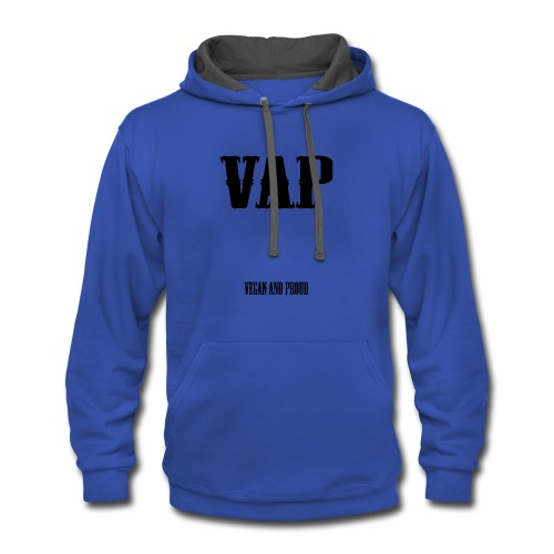VAP Vegan and Proud - Contrast Hoodie