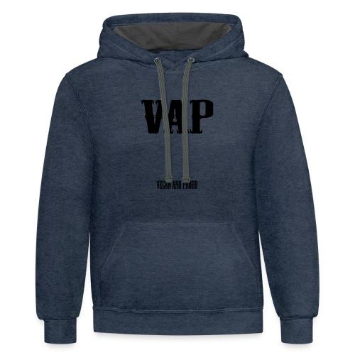 VAP Vegan and Proud - Contrast Hoodie