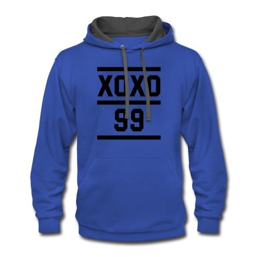 xoxo - Contrast Hoodie