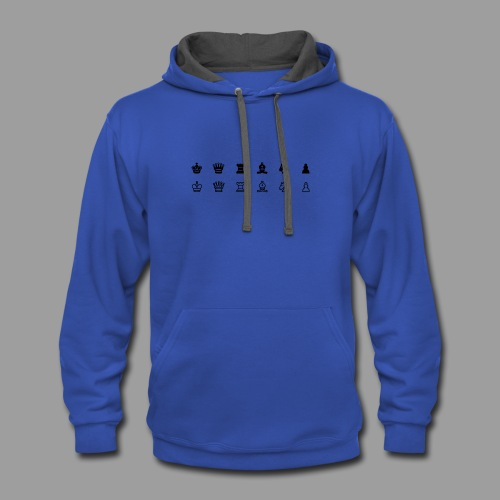chess - Contrast Hoodie