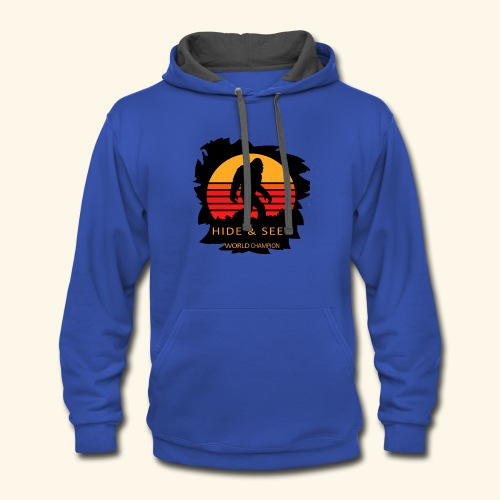 Hide And Seek World Champion T-shirt Bigfoot - Contrast Hoodie