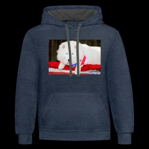 Beautiful Husky Puppy - Contrast Hoodie