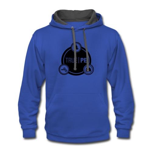 true PE logo - Contrast Hoodie