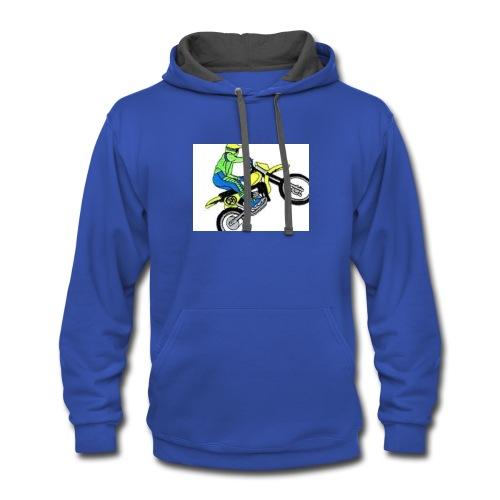 moto bikes - Contrast Hoodie