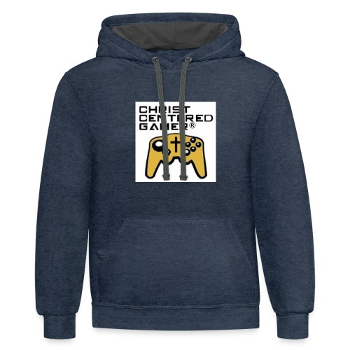 Christian Centered Gamer - Contrast Hoodie