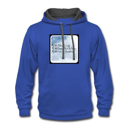 Mens shirt design - Contrast Hoodie