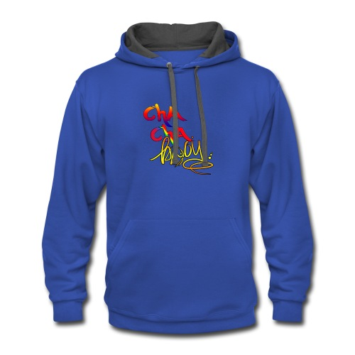 cha cha Bwoy Ding Dong T- Shirt - Contrast Hoodie