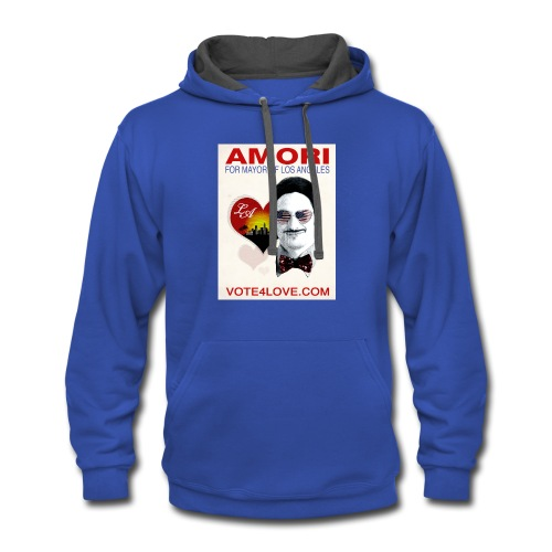 Amori for Mayor of Los Angeles eco friendly shirt - Contrast Hoodie