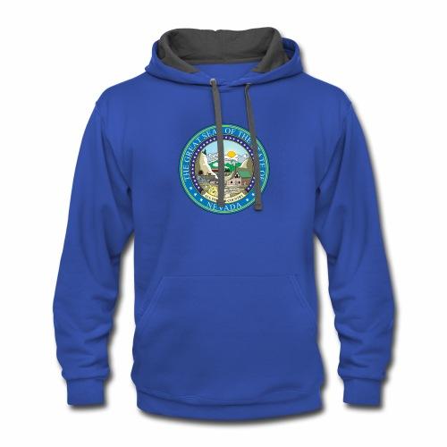 Nevada State RP - Seal - Contrast Hoodie