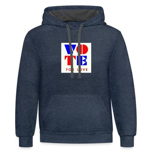 vote4love-sample - Contrast Hoodie