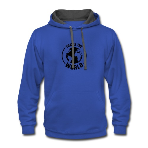 travel the world by Travel4hlidays - Contrast Hoodie