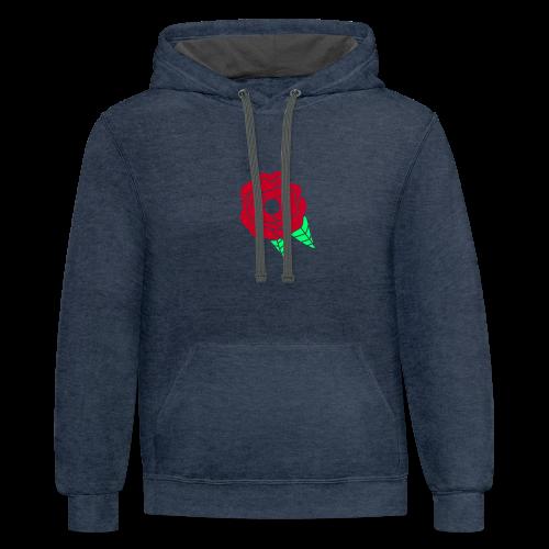 rose - Contrast Hoodie
