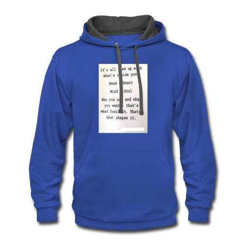 Tied up, heart string - Contrast Hoodie