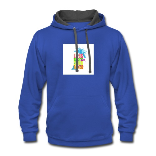 Help Support Beach Clean Up - Contrast Hoodie