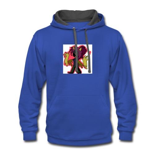 BlueCatzYT Monster!Au Shirt! - Contrast Hoodie