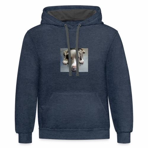 lovely puppy - Contrast Hoodie