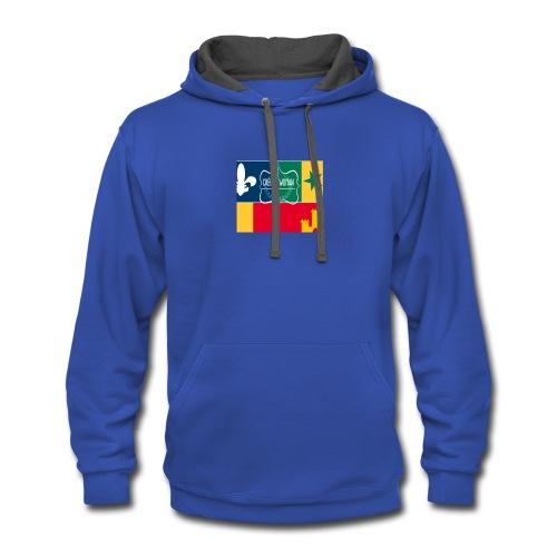 Creole Woman Louisiana Cultural Flag - Contrast Hoodie