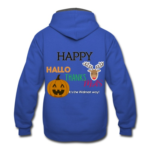 HAPPY HALLO-THANKS-MAS - Contrast Hoodie
