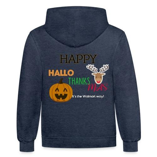 HAPPY HALLO-THANKS-MAS - Contrast Hoodie