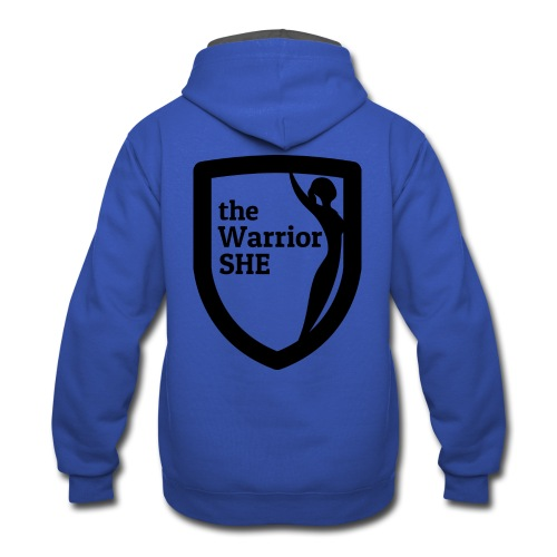 theWarriorSHE logo t-shirt - Contrast Hoodie