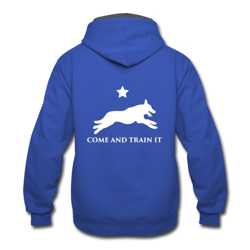 Come And Train It K9 - Contrast Hoodie