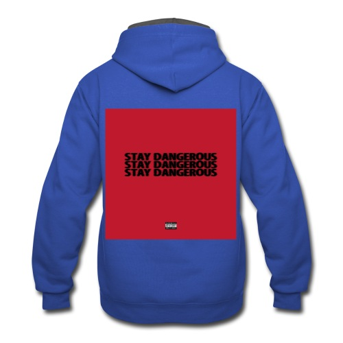 STAY DANGEROUS CLOTHES - Contrast Hoodie