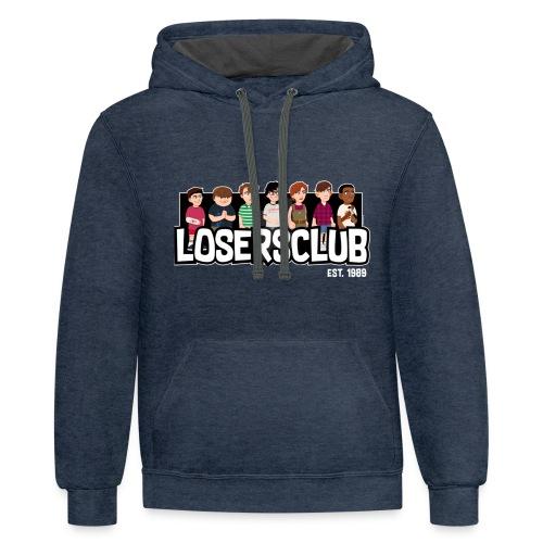 Loser Club Cartoon - Contrast Hoodie