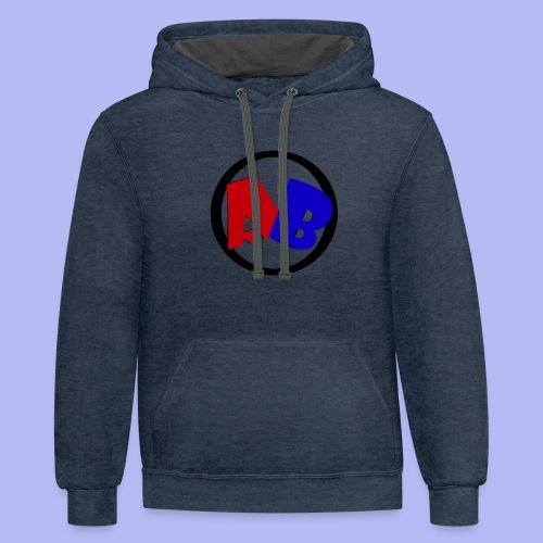 funda estilo logo del canal - Contrast Hoodie
