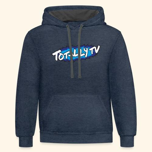 Totally TV Burst Logo Blue on Blue - Contrast Hoodie