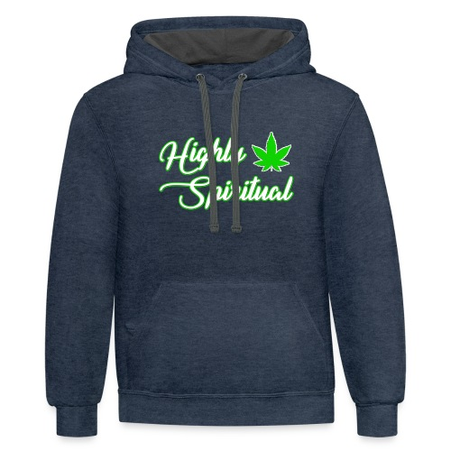 Highly Spiritual Logo - Contrast Hoodie
