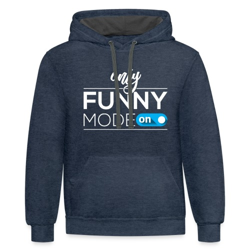 Funny time on - Contrast Hoodie