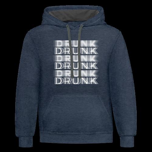 Drunk Typography - Contrast Hoodie