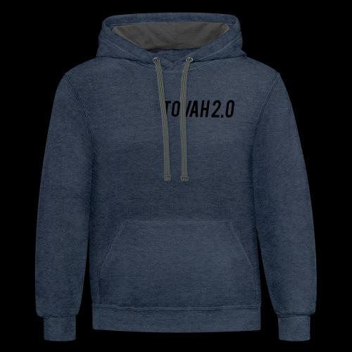 tovah 2.0 logo merch - Contrast Hoodie