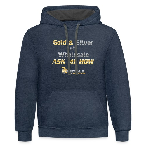 gold and silver at wholesale - Contrast Hoodie