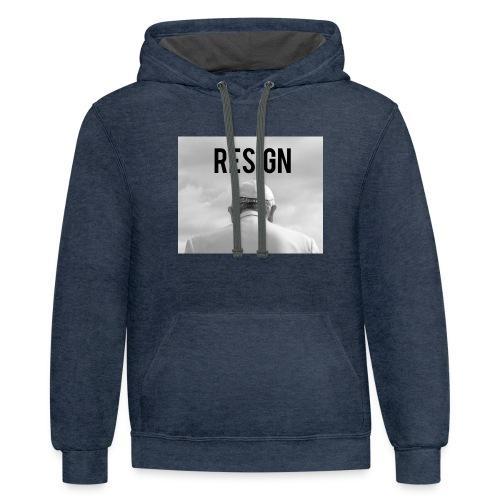 Resign - Contrast Hoodie