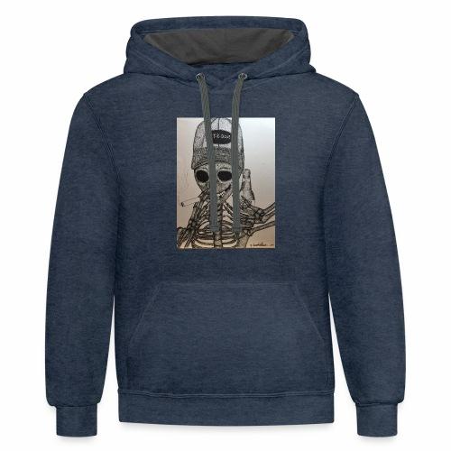 Get R Done Skele - Contrast Hoodie
