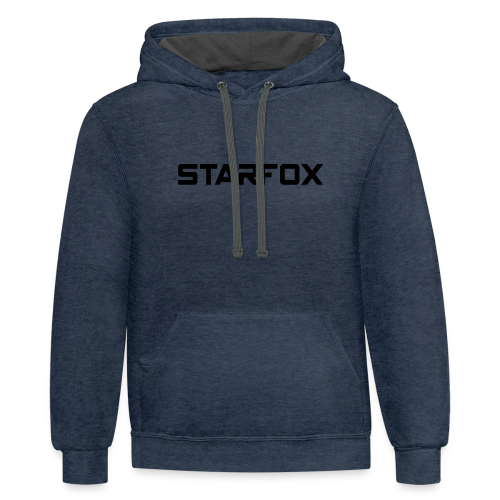 STARFOX Text - Contrast Hoodie