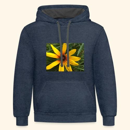 Yellow flower - Contrast Hoodie