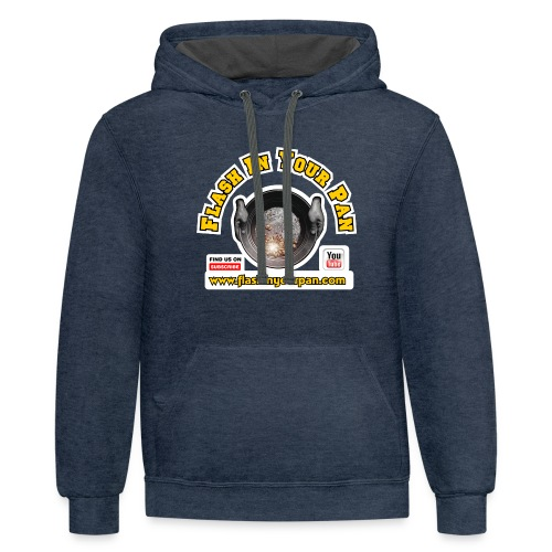 Flash In Your Pan Find Us - Contrast Hoodie