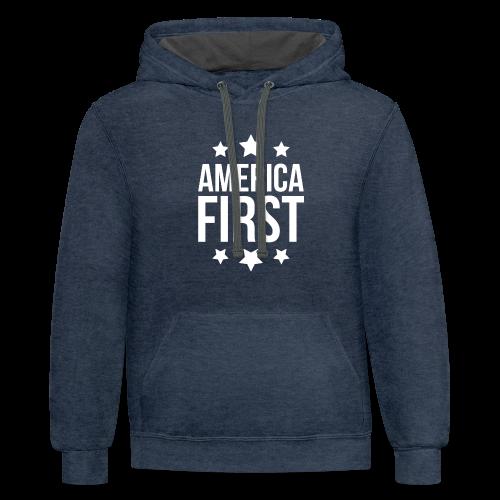 America First - Contrast Hoodie